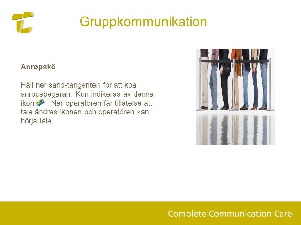 Gruppkommunikation Anropskö