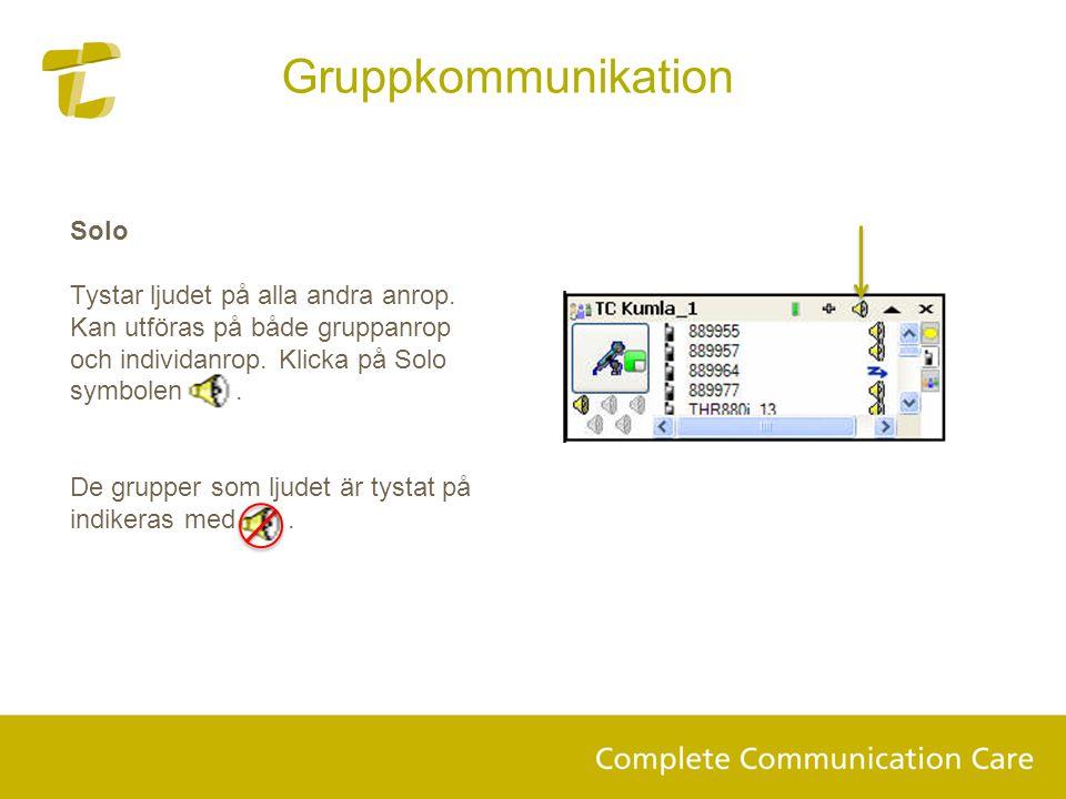 Gruppkommunikation Solo