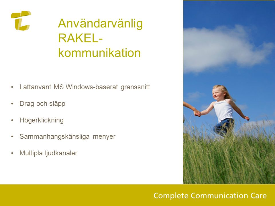 Användarvänlig RAKEL-kommunikation