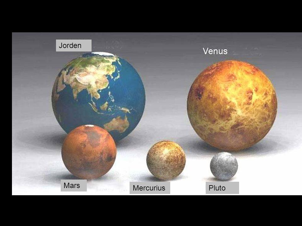 Jorden Mars Mercurius Pluto
