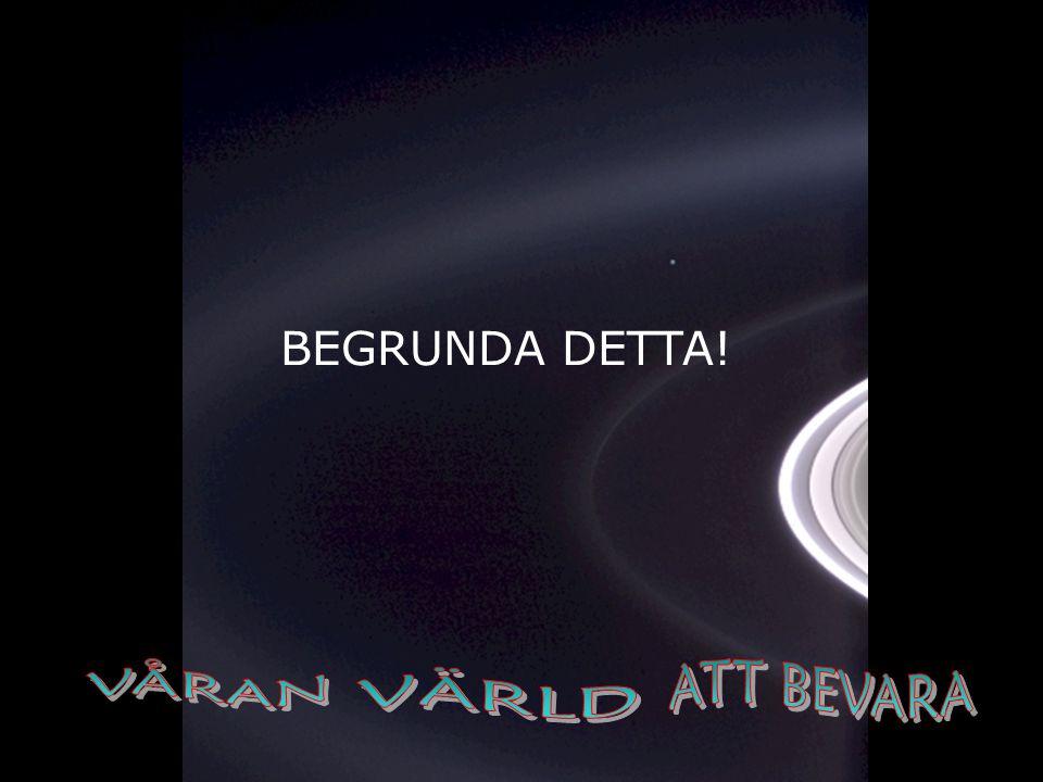 BEGRUNDA DETTA! VÅRAN ATT BEVARA VÄRLD