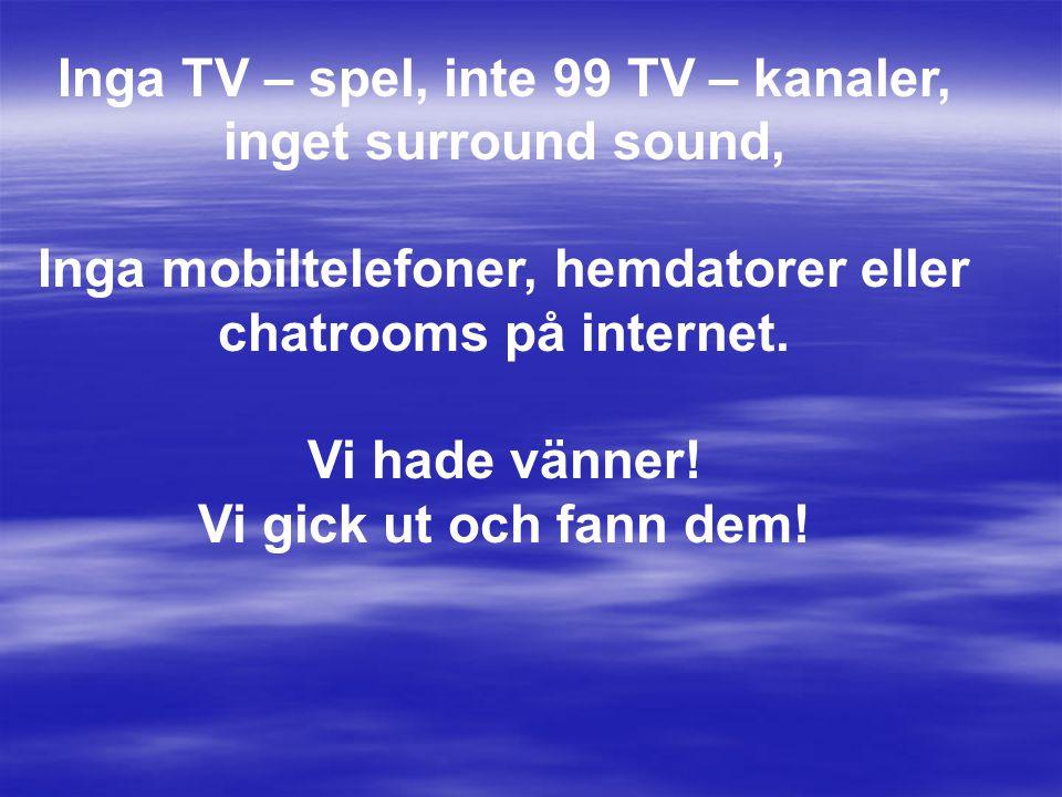Inga TV – spel, inte 99 TV – kanaler, inget surround sound,