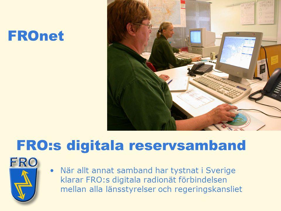 FRO:s digitala reservsamband