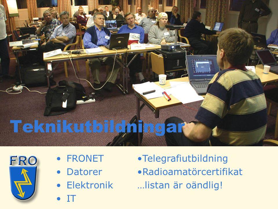 Teknikutbildningar FRONET Datorer Elektronik IT Telegrafiutbildning