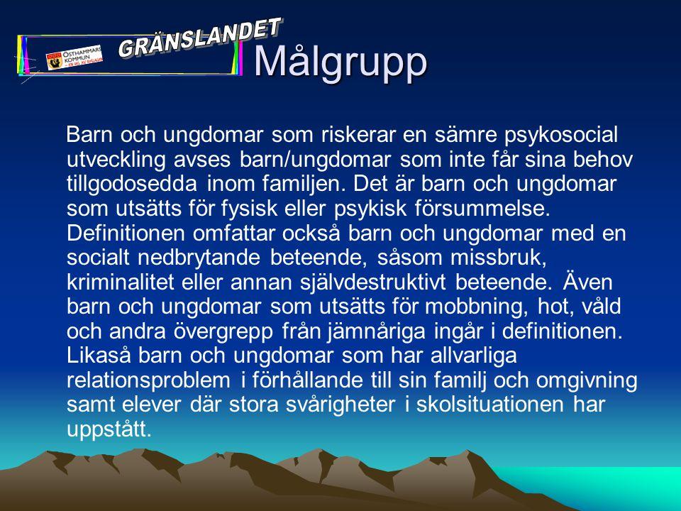 Målgrupp GRÄNSLANDET.