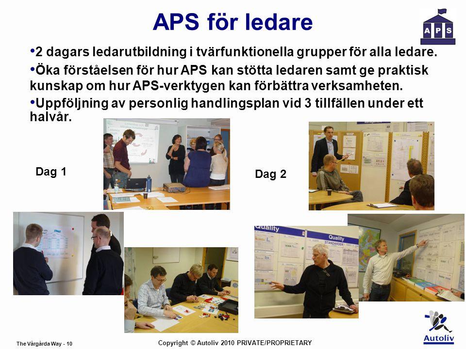 APS för ledare 2 dagars ledarutbildning i tvärfunktionella grupper för alla ledare.