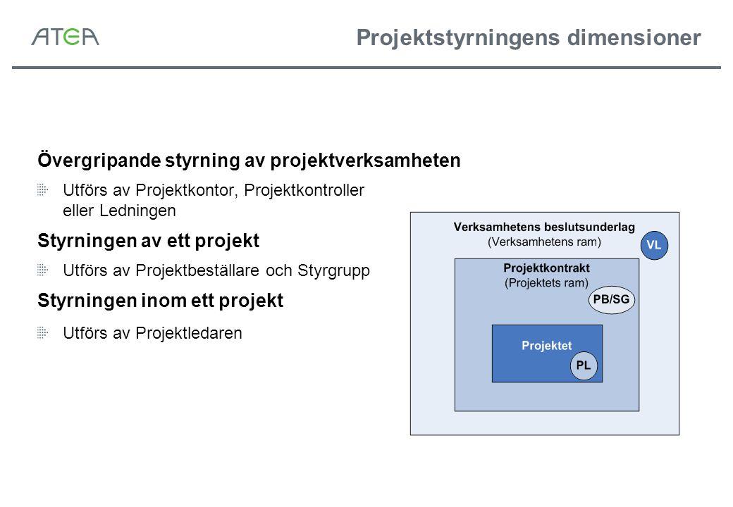 Projektstyrningens dimensioner