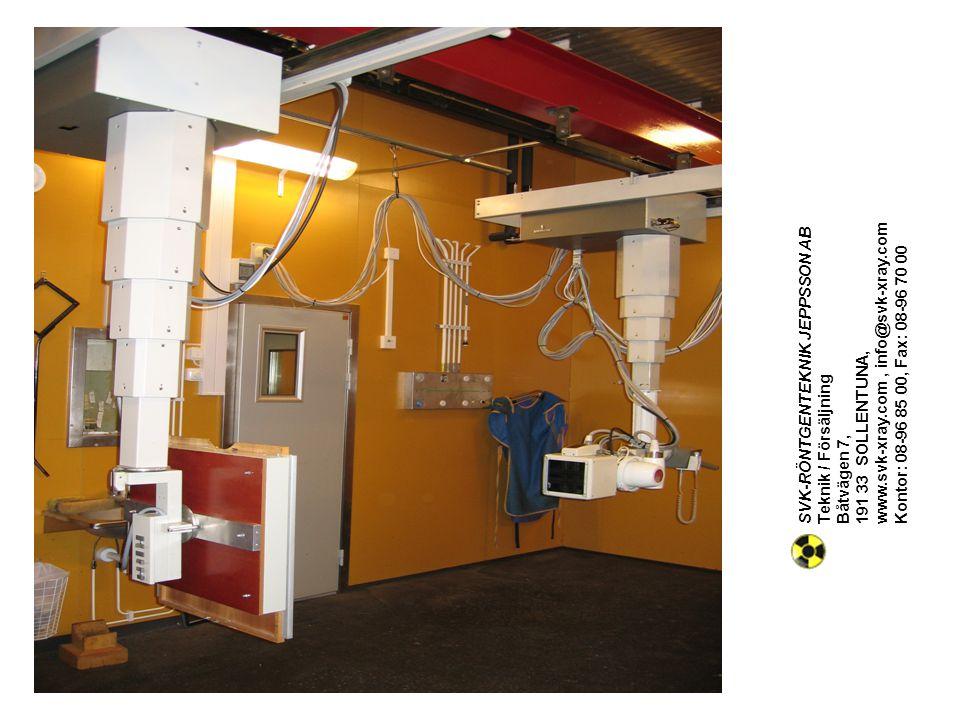 Teknik / Försäljning Båtvägen 7, 191 33 SOLLENTUNA, www. svk-xray