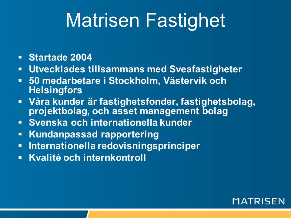 Matrisen Fastighet Startade 2004