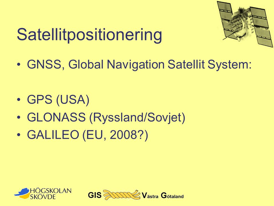 Satellitpositionering