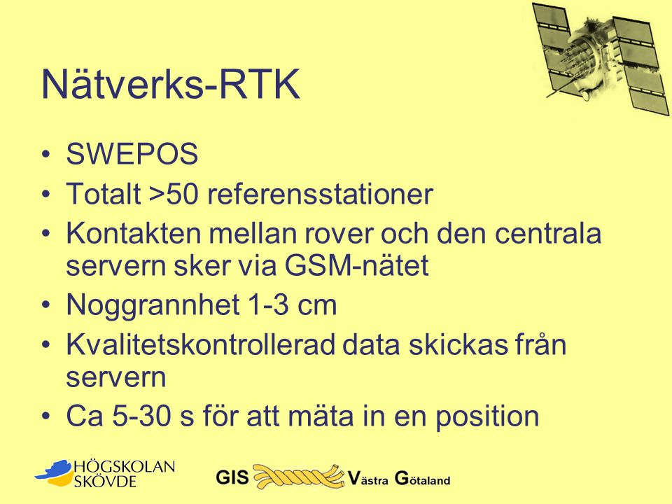 Nätverks-RTK SWEPOS Totalt >50 referensstationer