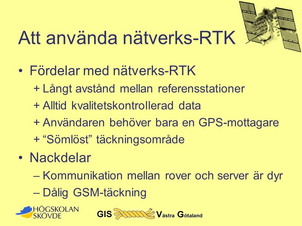 Att använda nätverks-RTK