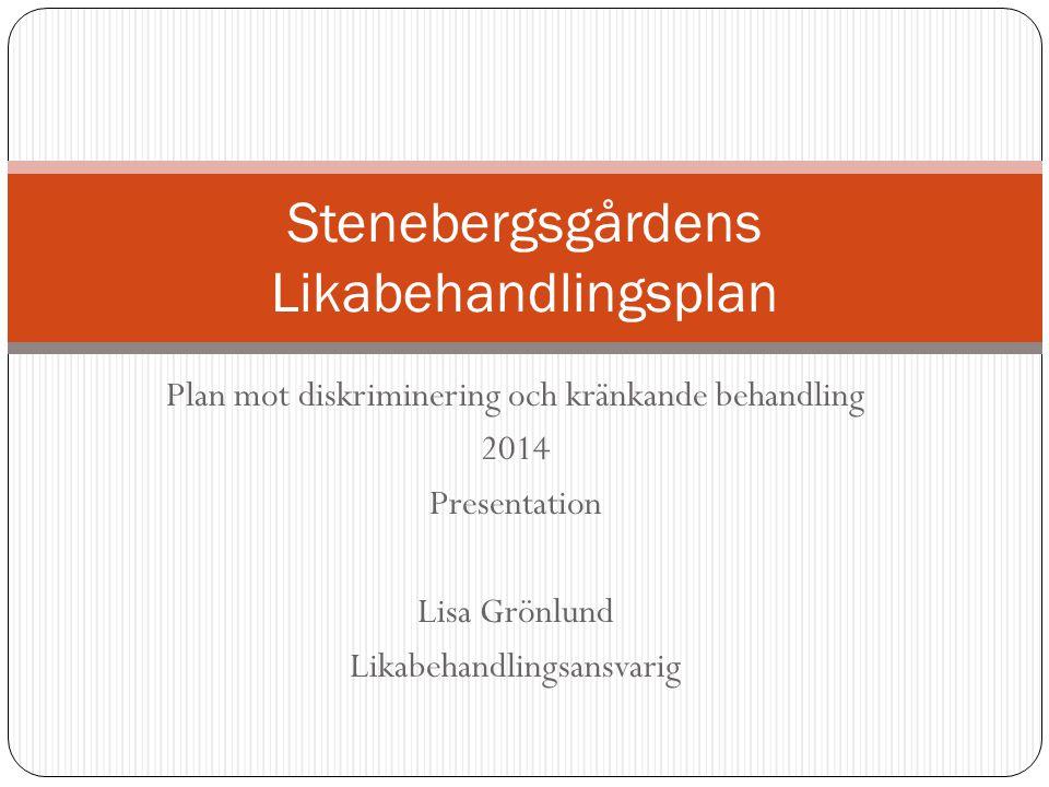 Stenebergsgårdens Likabehandlingsplan