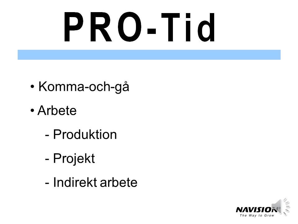 Komma-och-gå Arbete Produktion Projekt Indirekt arbete