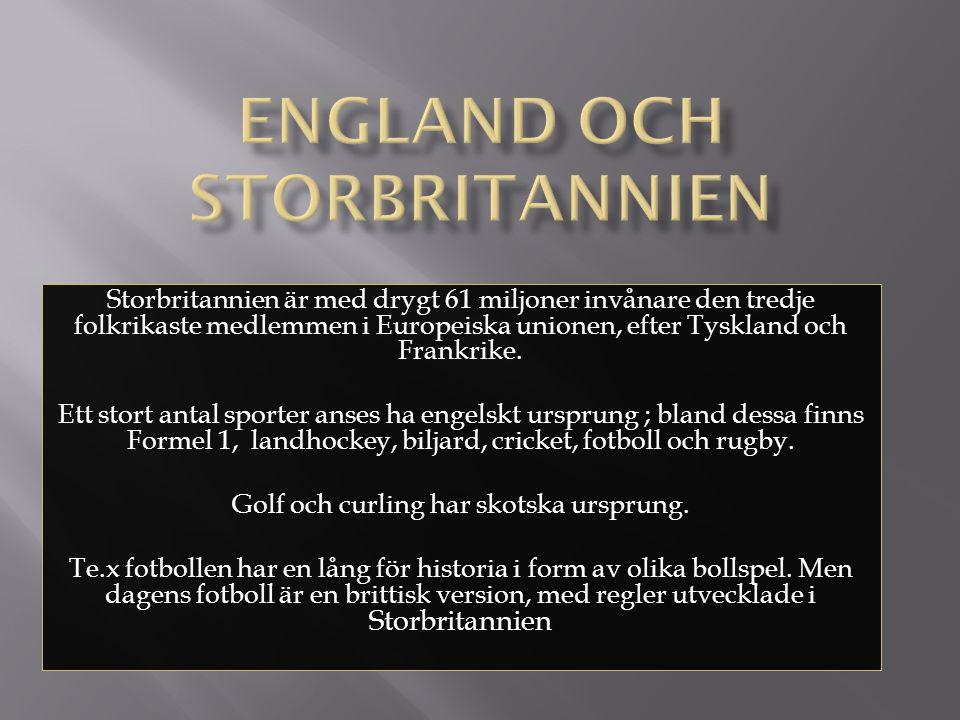 England och Storbritannien