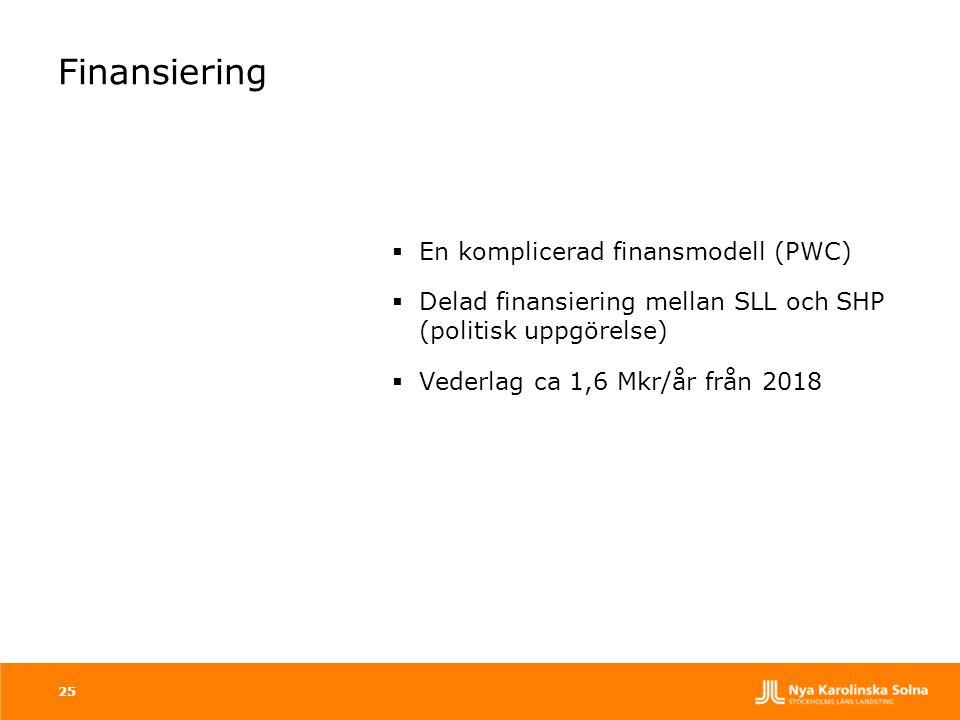Finansiering En komplicerad finansmodell (PWC)