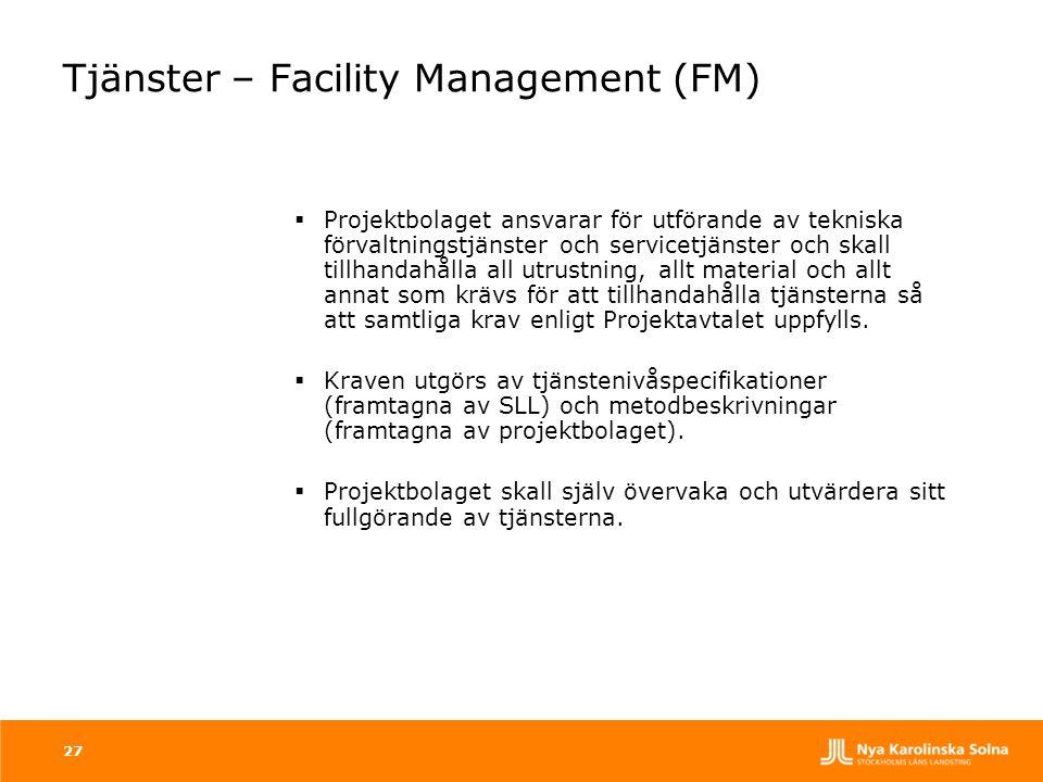 Tjänster – Facility Management (FM)