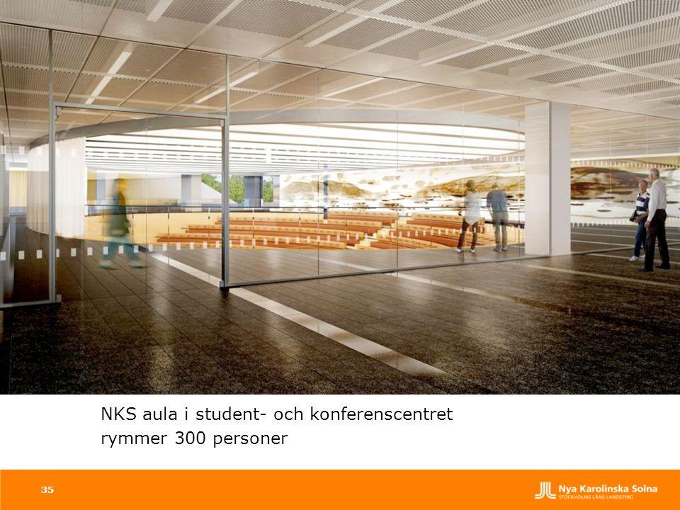 NKS aula i student- och konferenscentret rymmer 300 personer