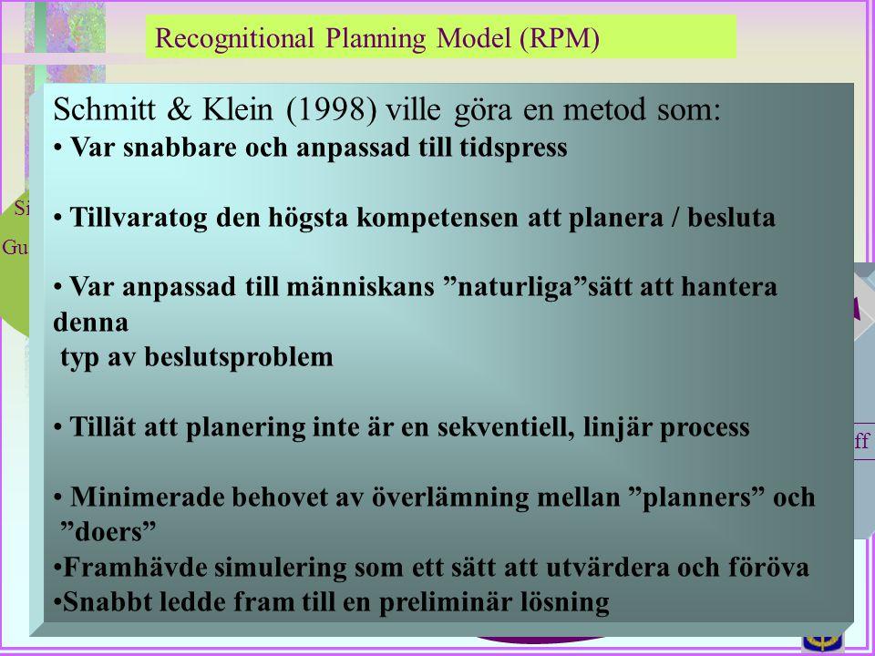 Schmitt & Klein (1998) ville göra en metod som: