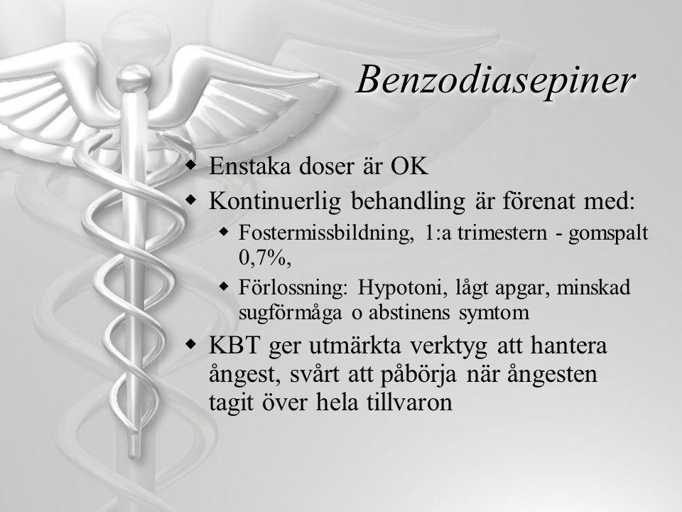 Benzodiasepiner Enstaka doser är OK