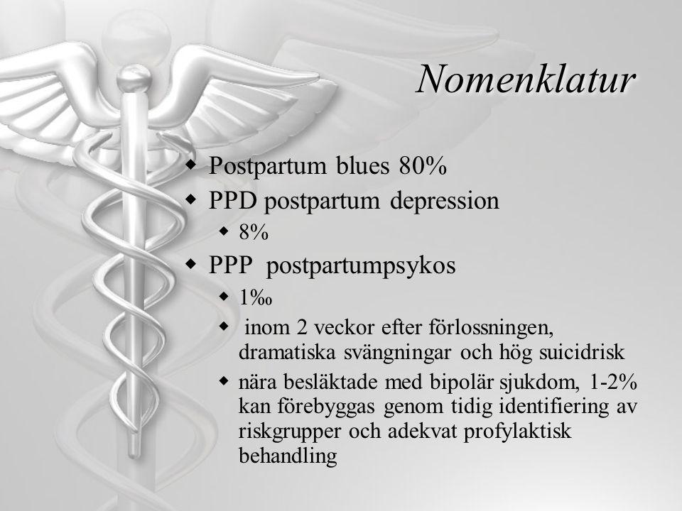 Nomenklatur Postpartum blues 80% PPD postpartum depression