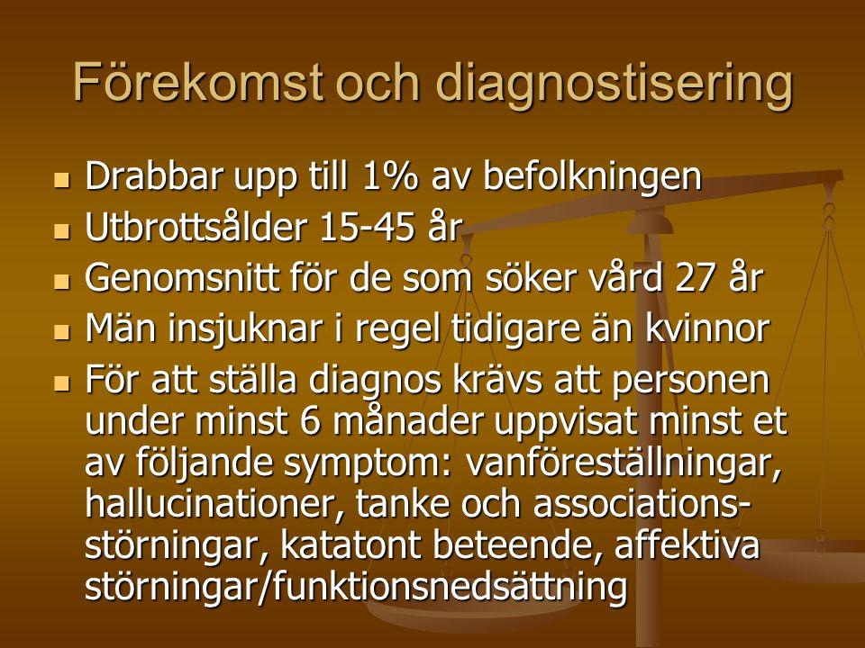 Förekomst och diagnostisering