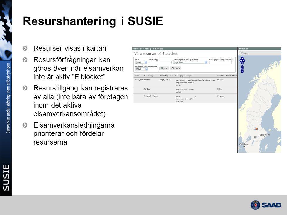 Resurshantering i SUSIE