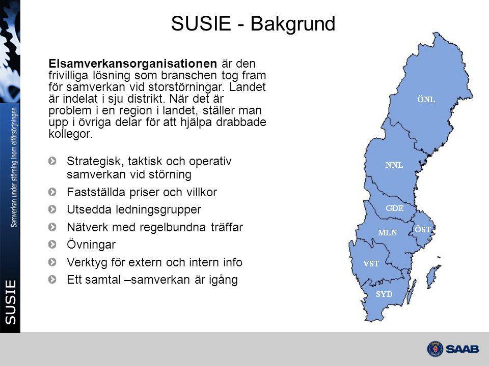 SUSIE - Bakgrund Elsamverkansorganisationen är den