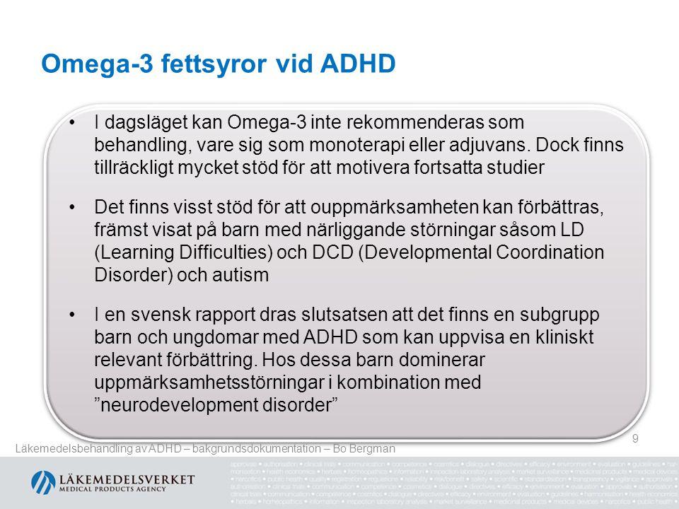 Omega-3 fettsyror vid ADHD
