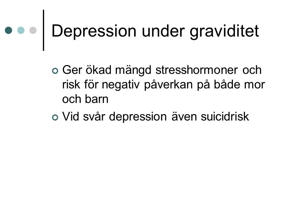 Depression under graviditet