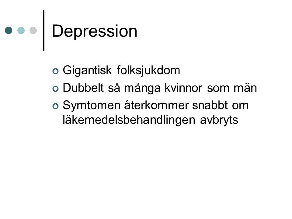 Depression Gigantisk folksjukdom Dubbelt så många kvinnor som män