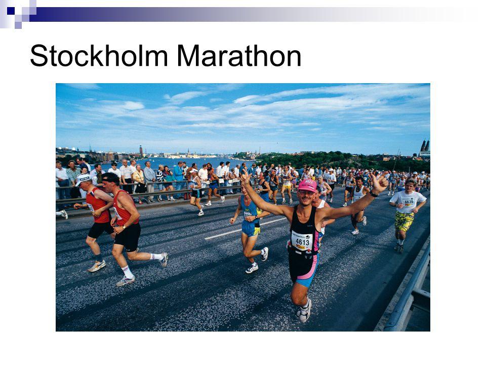 Stockholm Marathon Christina Började 1979 firar 33 år nästa vår