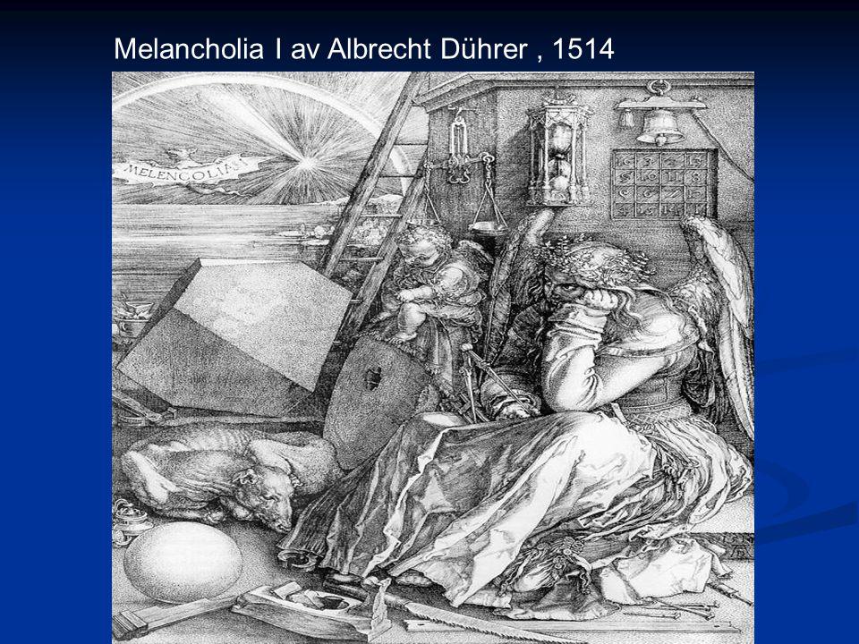Melancholia I av Albrecht Dührer , 1514