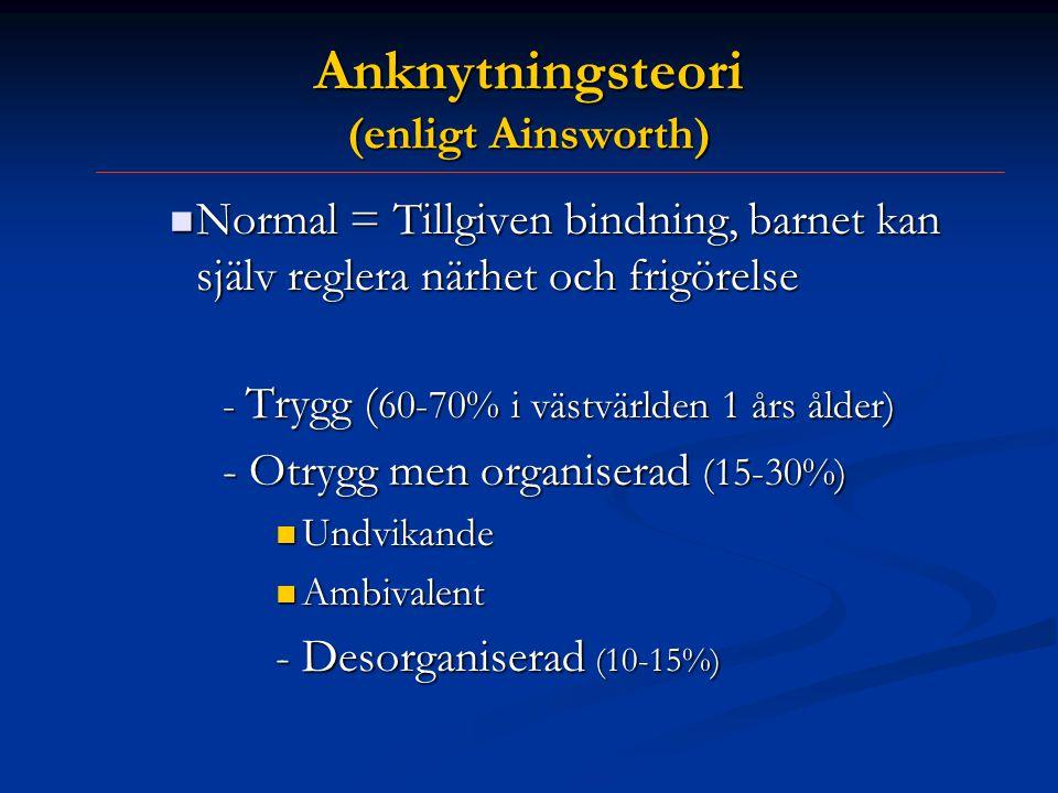 Anknytningsteori (enligt Ainsworth)