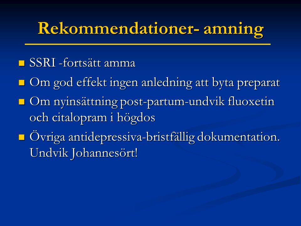 Rekommendationer- amning