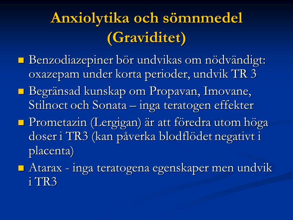 Anxiolytika och sömnmedel (Graviditet)