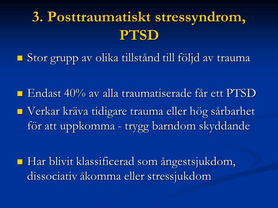 3. Posttraumatiskt stressyndrom, PTSD