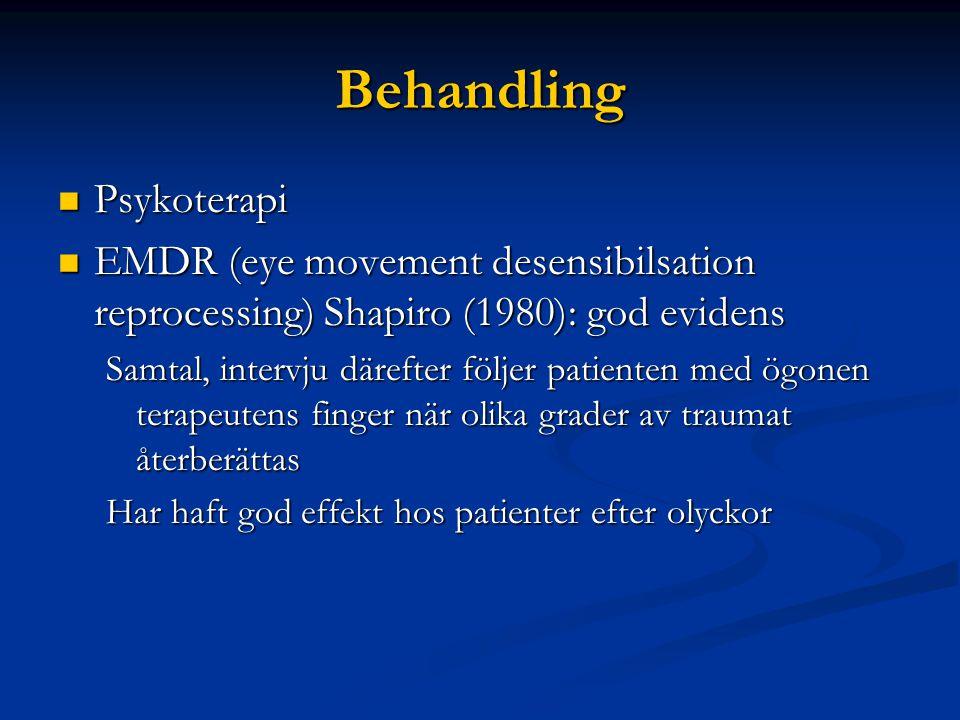 Behandling Psykoterapi