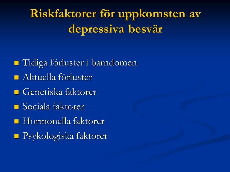 Riskfaktorer för uppkomsten av depressiva besvär