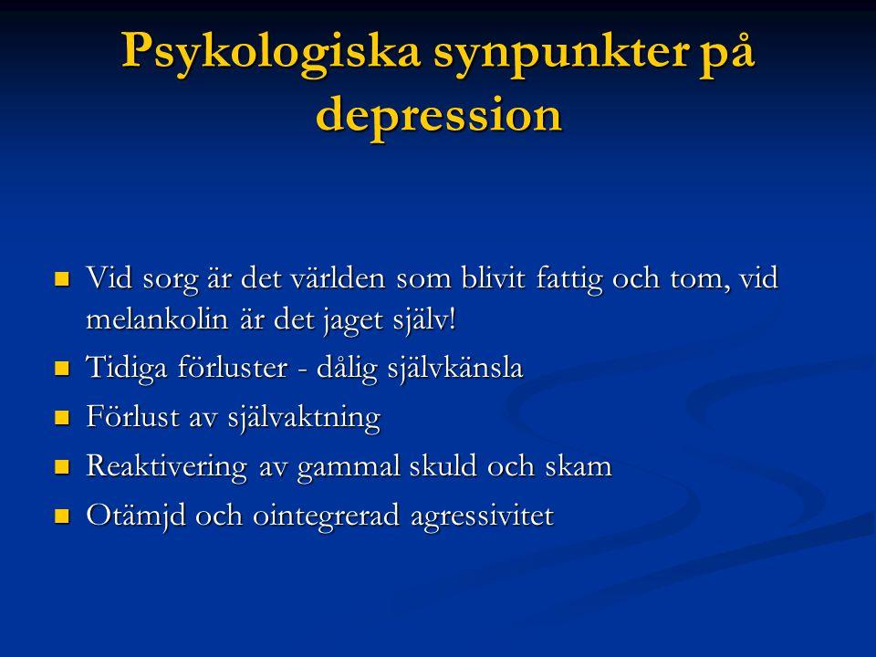 Psykologiska synpunkter på depression