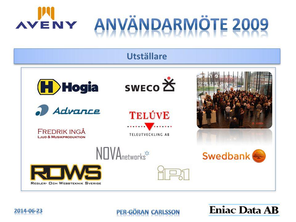 Användarmöte 2009 Utställare 2017-04-03 Per-Göran Carlsson