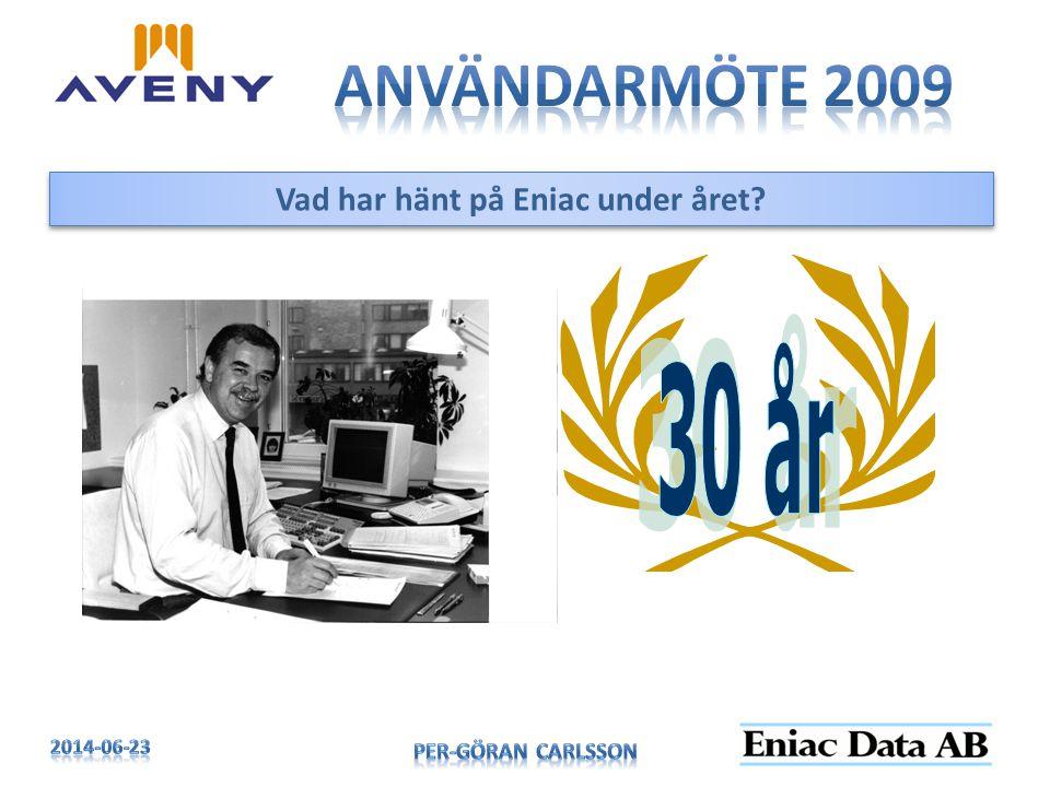 Vad har hänt på Eniac under året