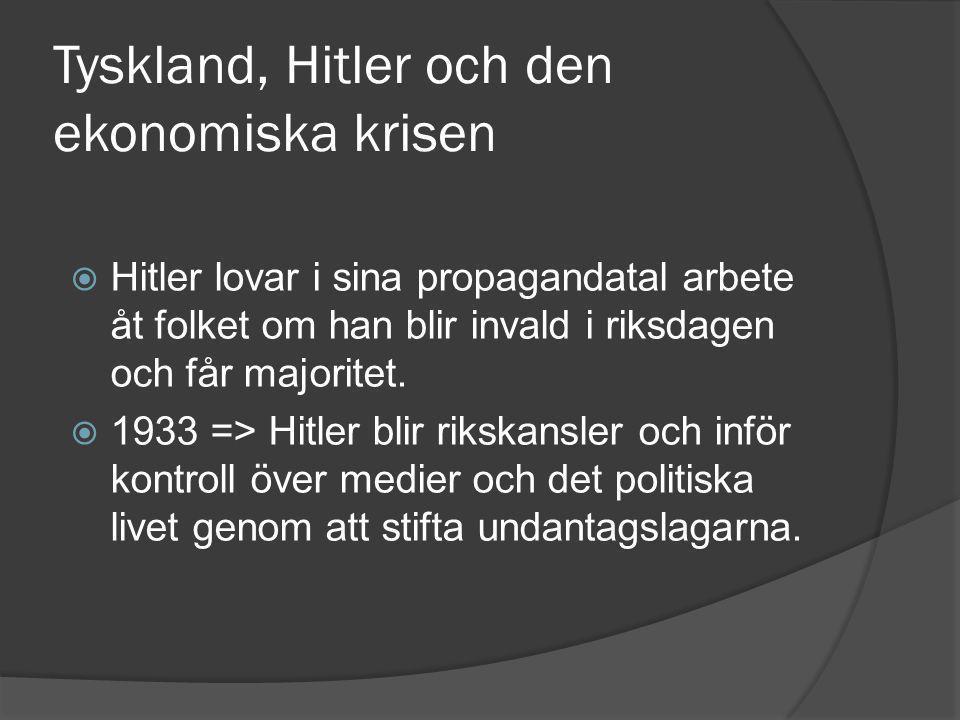 Tyskland, Hitler och den ekonomiska krisen