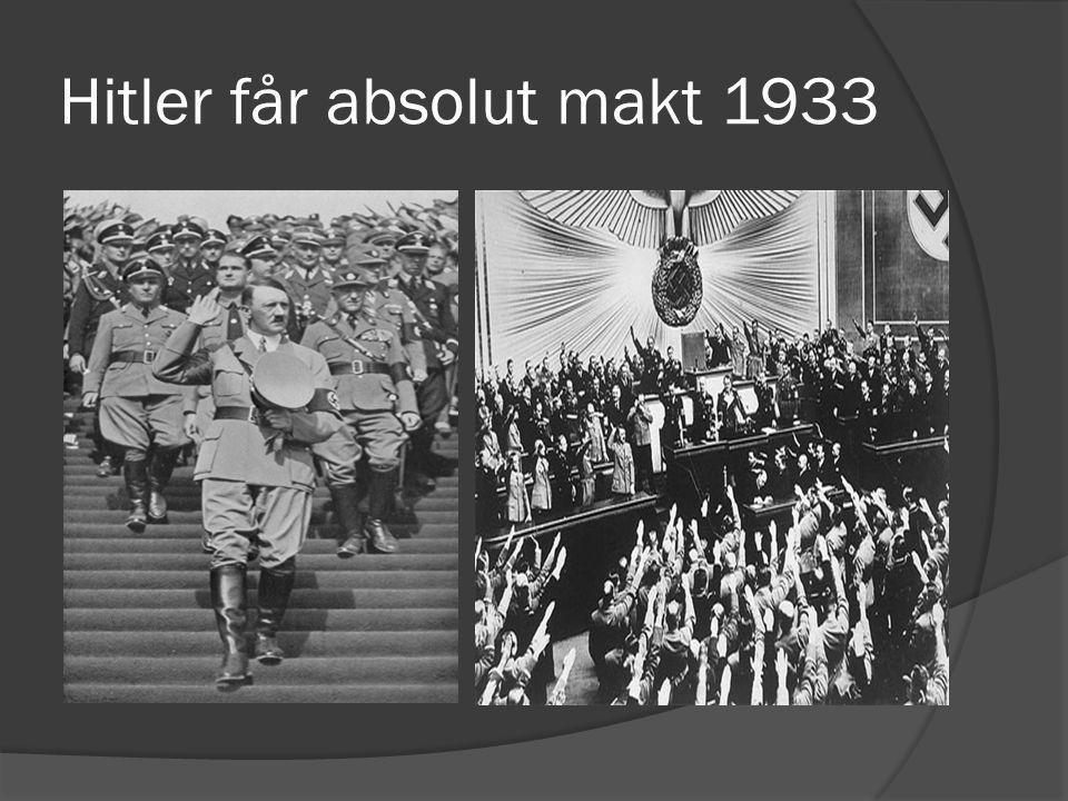 Hitler får absolut makt 1933