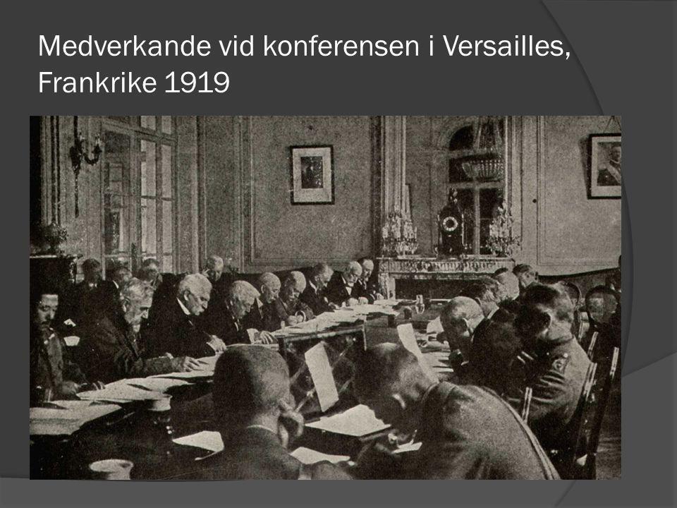 Medverkande vid konferensen i Versailles, Frankrike 1919