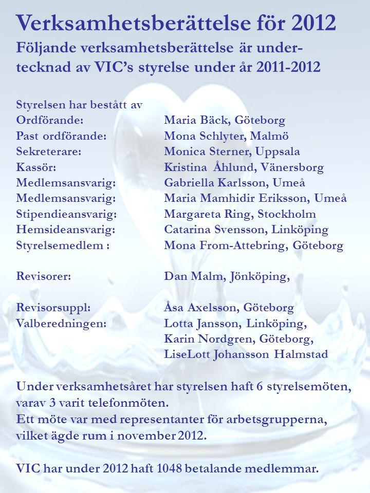 Verksamhetsberättelse för 2012