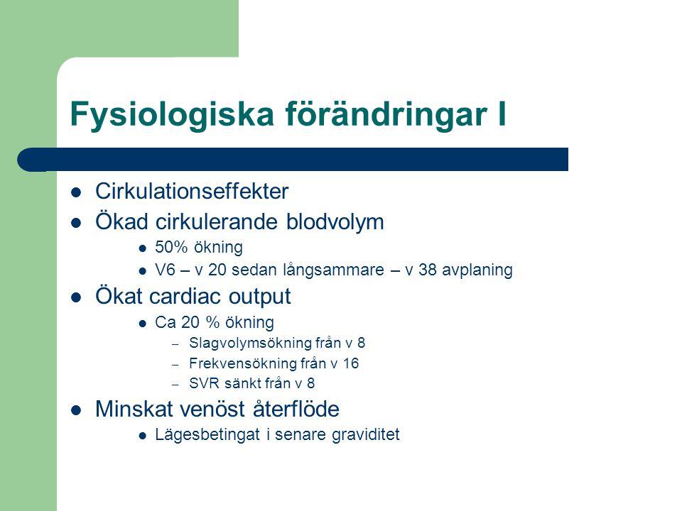 Fysiologiska förändringar I
