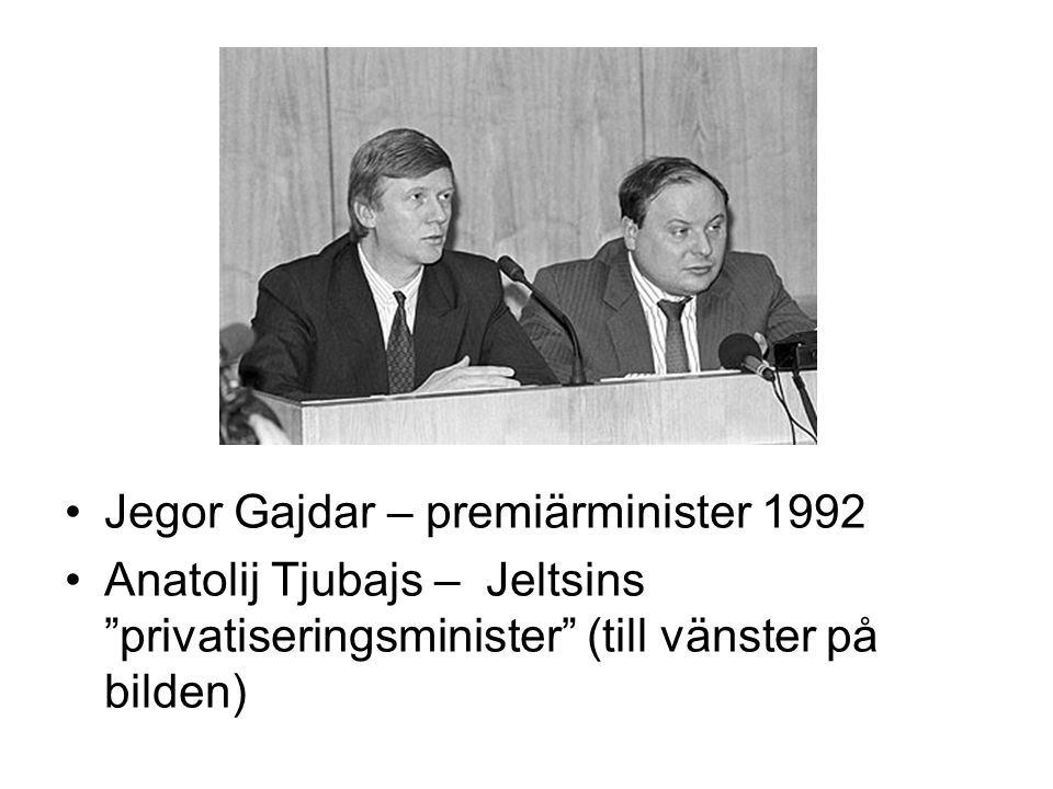 Jegor Gajdar – premiärminister 1992
