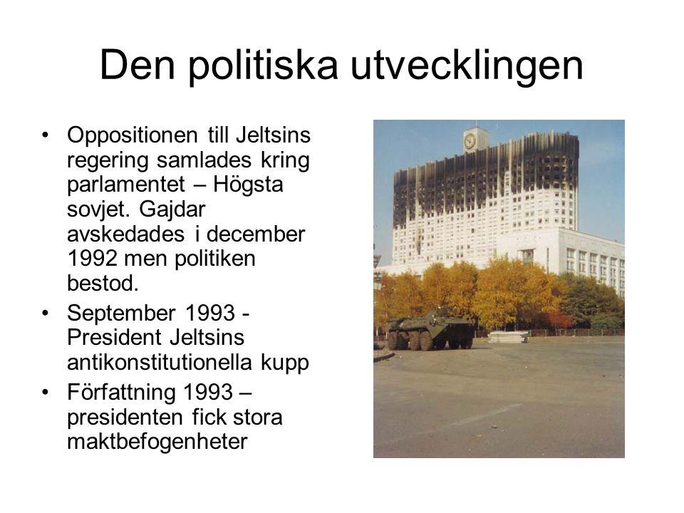 Den politiska utvecklingen