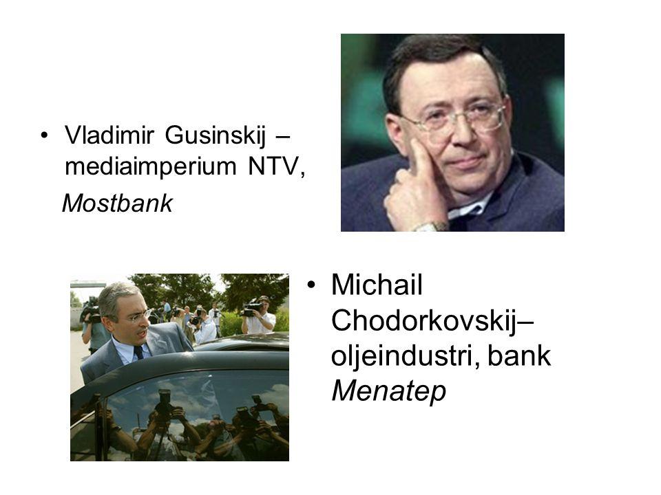 Michail Chodorkovskij– oljeindustri, bank Menatep